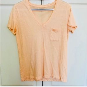 Madewell Pink Whisper Tee with Front Pocket